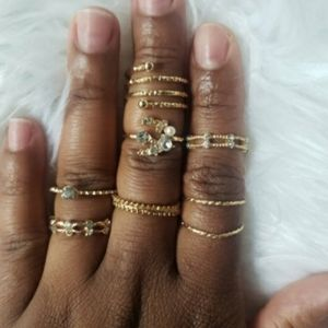 Stackable Rings set of 7